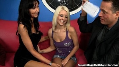 Cute Blonde Babysitter Shared by Married Couple