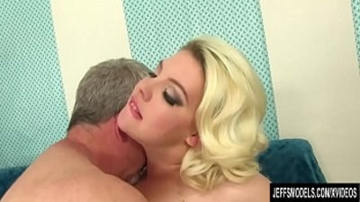 Fat Blonde Miranda Kelly Sucks a Thick Dick and Gets Her Pussy Pounded