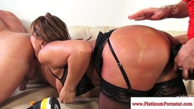 Ava Devine does dp during threesome