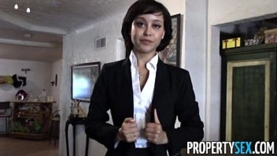 PropertySex Cute real estate agent makes dirty POV sex video with client