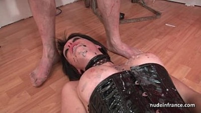 Big boobed babe fucked hard corrected in BDSM action