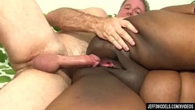 Fat Black Chick Heather Mason Sucks a Thick white Cock and Then Takes It Up Her Pussy