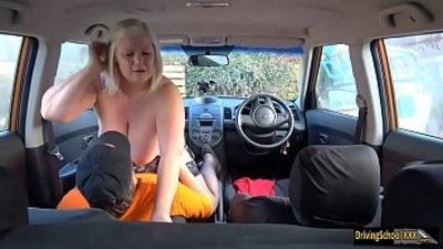Busty mature milf fucked by instructor