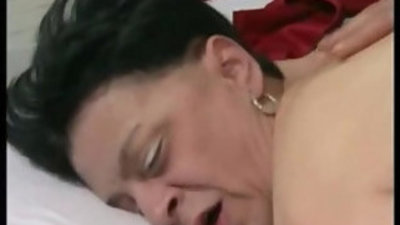 years old granny with nylons stocking
