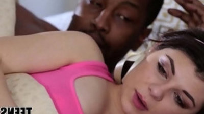 White Teen Wants Her Black Step Dads Cock