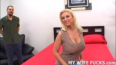 Watch your wife her pussy pounded by a pornstar