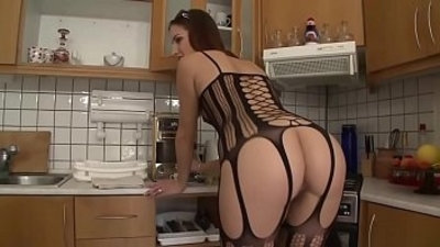 Hot ass stockings babe sucks