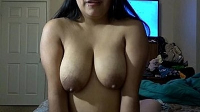 Riding cock while squeezing milk out my tits