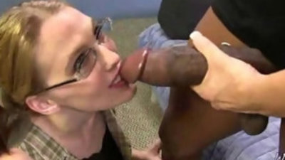 Horny MILF sucks and fucks young stud