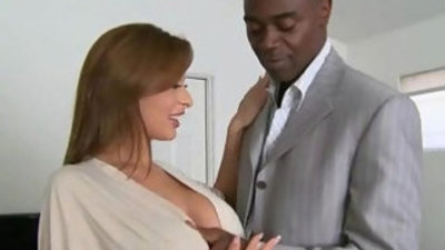 Mature sluty lady gags and gets her pussy banged by a black cock